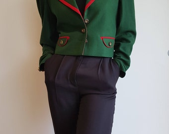 Green Woolen Bavarian Jacket