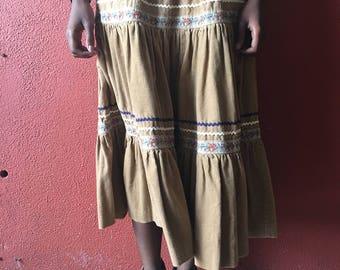 Vintage Corduroy 70s Skirt