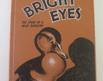 Vintage Illustrated Children's Book, Bright Eyes: The Story of A Wild Duckling, Harry J. Baerg, Southern Publishing Association, 1952