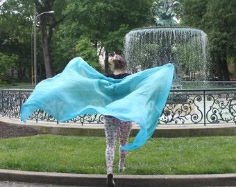 Mermaid's Delight Silk Bellydance Veil Bellydance Costume Veil