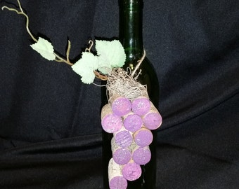 wine or champagne cork grape ornament