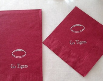 Football Napkins, Tailgate Party, Game Day, Football Party, Superbowl Party, College Football, Tailgate Supplies, Football Game, Football