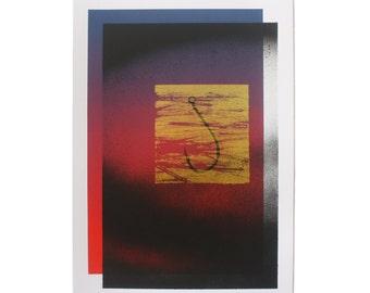 Serigraph - Silkscreen Print - Screen Printing - Spray - hook - A4