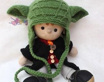 KNITTING PATTERN Wrinkle Yoda Baby Hat PDF