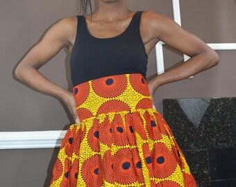 Authentic, Ankara, Wax Print Skirt