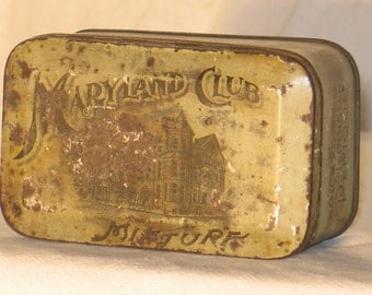 "Vintage Tobacco Advertising tin ""Maryland Club Mixture"""