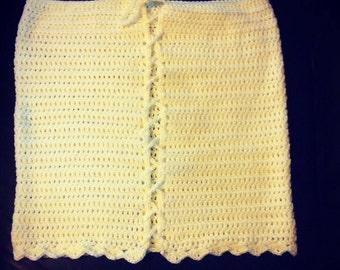 Crochet yellow women's skirt