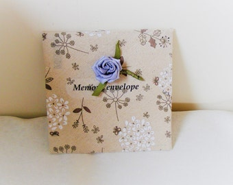 fabric envelope wedding favor keepsake memory card envelope wedding gift decorated