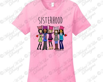 Sisterhood t shirt, Sisterhood gift, March on DC, Womens March on DC, Mothers day gift, Breast Cancer t shirt gift,the future is female,gift