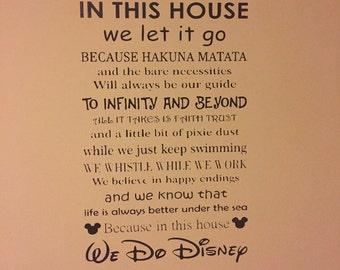 Disney Style Wall Mural - We Do Disney Vinyl Decal