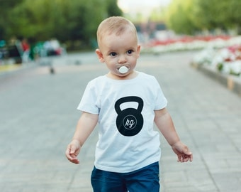 SINGLE TEE- Kettlebell / Mommy and me / Matching Tees / Baby Tees / Unisex Tee / Exercise / Toddler Tee / Kids Tee / Lifting / Fit Mom