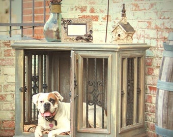 large single indoor custom wood dog kennelcrate
