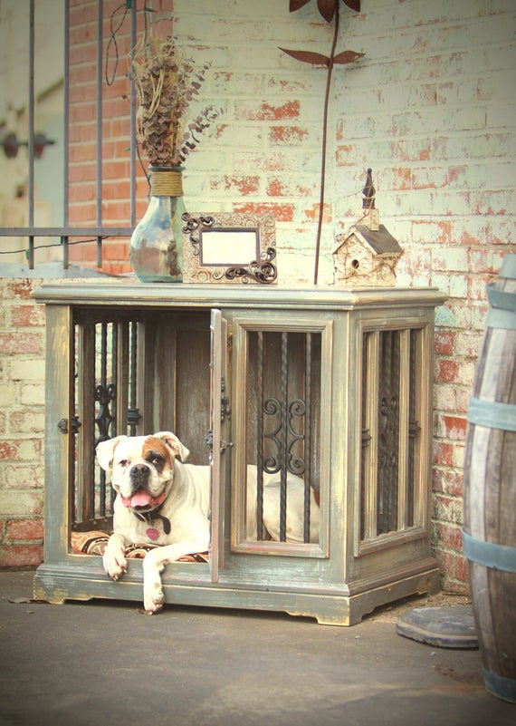 Single Indoor Custom Wood Dog Kennel Crate