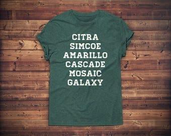 Hops T-shirt // Craft Beer Shirt // Craft Beer Gift // Beer Geek Nerd Tshirt // Homebrewer Tee // Brewing T-shirt