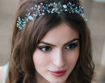 wedding tiara sprig headband for hair