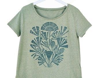 Marine Botanical Print Flowy T-Shirt