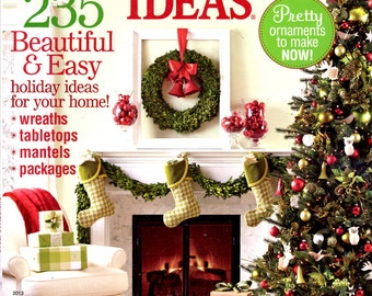 Christmas Ideas 2013 Better Homes and Gardens Magazine 235 Holiday Ideas