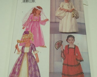 Butterick Children's/Girls'Costume Pattern 3266 Size 6, 7, 8 Full Length Dress Victorian Princess