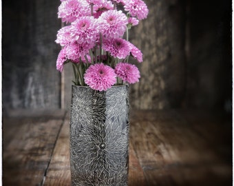 Black Dahlia Vase