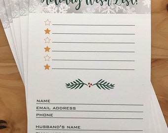 Rodan And Fields Holiday Wish List | INSTANT Download | R+F Christmas Wish  List  Christmas Wish List Form