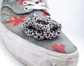 Chainmaille Hacky Sack - Byzantine Dodecahedron
