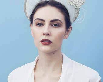 The Lilly Halo Crown, Headpiece Fascinator for Ascot or Derby.