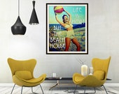 Gift for Mom, Mother's Day Gift from Son, Life is Short Buy the Beach House Print, Mother's Day from Daughter, vintage Beach House Art,