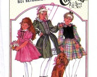 Simplicity 8766 Sewing Pattern for Girls' Dress - Uncut - Size 7, 8, 10