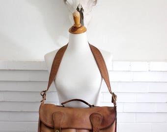 Vintage Coach Musette Bag New York City // Messenger Bag Briefcase British Tan // Coach Tote Laptop Bag