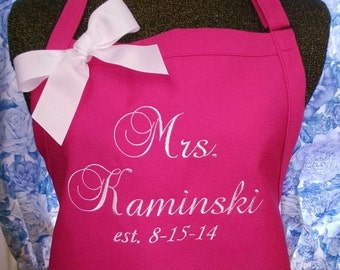 Apron Personalized for the Future Mrs. Bride to be