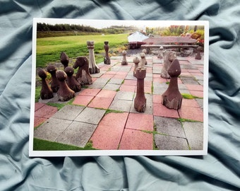 Wooden Chess - Chess Piece - Chess Photo - Photo of Chess Game - Chess Board Photo - Wizard's Chess - Game of Chess - Photography Print