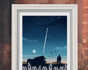 Interstellar Movie Poster Print - Art Poster Print - (Available In Many Sizes)