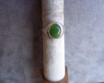 Jade silver ring (.925)