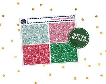 Summer Fling // Glitter Headers {GH31}