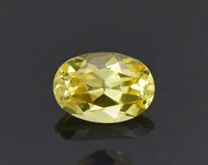 Brilliant Lemon Yellow Sapphire Gemstone from Tanzania 0.88 cts.