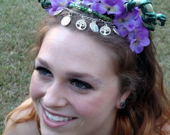 Mother Earth Flower Crown Headdress