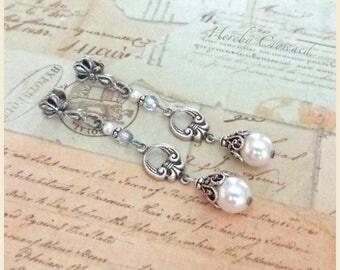 Amanda Earrings ~ Victorian, Edwardian-inspired ~ original Art Nouveau post earring design