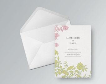 Wedding card to print out. Rosé | PDF