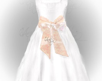 Pearl White Sequin Sash Iridescent White Waist Pre-tied Bow for Flower Girl Dresses Bridesmaids Bridal Dress dress Prom Events READY TO SHIP