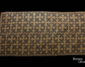 Tribal Rattan Rug From Borneo 206CM Traditional Hand Woven Penan (Punan) Mat Plaited Art Of Borneo Collectible Wall Decor