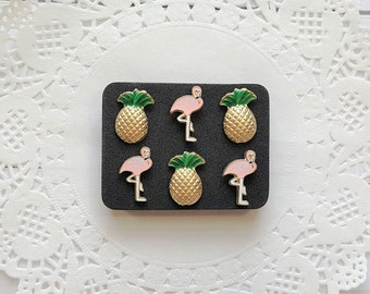 Decorative Pushpins, Thumb Tacks, Flamingos, Pineapples, Decorative Push Pins, Pushpins, Thumbtacks, Novelty Pushpins, Fun Thumb Tacks