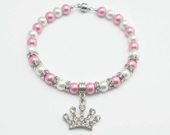 Pink & White - Pearl Dog Collar - Pearl Cat Collar - Fancy Dog Collar - Fancy Cat Collar - Beaded Dog Collar - Beaded Cat Collar