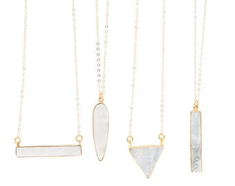 MetroSquared Dainty Druzy Necklaces
