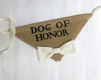 Dog Wedding Bandana Engagement Photos Save the Date Cards Dog of Honor Collar Fabric Bow Tie Proposal Wedding Accessories