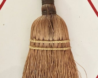 Vintage Mini Broom Whisk Primitive Straw Wire Handle Primitive Rustic Collectable Small 40's 30's Whisk