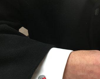 Custom cufflinks for Wedding | Cuff links for groomsmen | Gifts for cool men | wedding cufflinks Sterling silver | Red cufflinks for him