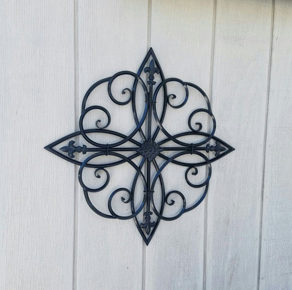 Wrought Iron Wall Decor Flowers : Large metal wall art wrought iron decor