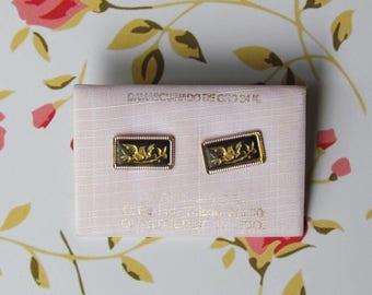 Toledo earrings damascened with 24K gold