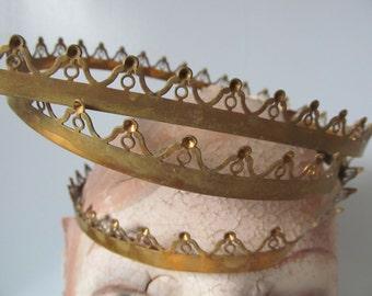 Antique Brass Crown Trim