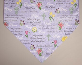 "Easter Table Runner, 36"" or 72"" Table Runner, Inspirational Table Runner, Easter Home Decor, Easter Gift"